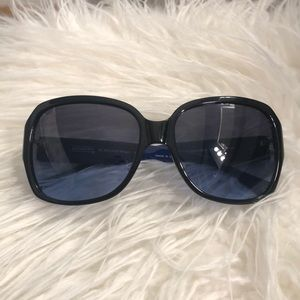 COACH shiny blue/black sunglasses